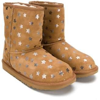 UGG (アグ) - Ugg Australia Kids star printed UGG boots