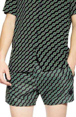 0ccb14fab8 Topman Geo Print Co-Ord Swim Trunks