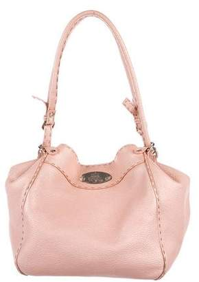 Fendi Pebbled Leather Selleria Hobo