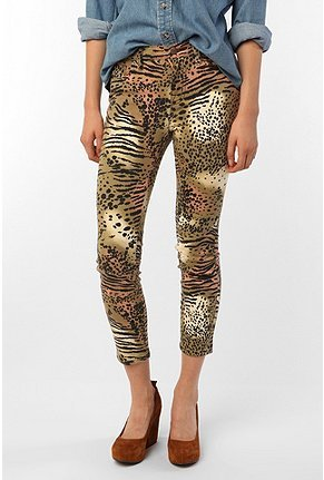 BDG Safari High-Rise Grazer Jean - Animal Print