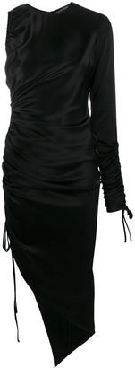 David Koma asymmetric midi dress