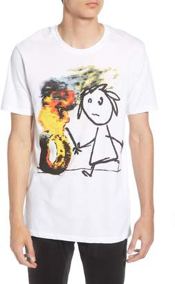 Eleven Paris ELEVENPARIS Burning Tire Banksy Print T-Shirt