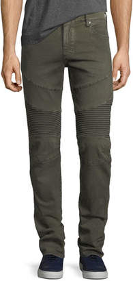 True Religion Rocco Moto Slim-Straight Jeans