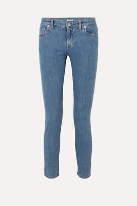 Miu Miu Mid-rise Slim-leg Jeans - Blue