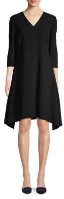 Max Mara V-Neck Ribbed Dress