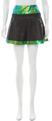 Theyskens' Theory Iridescent Leather Skirt