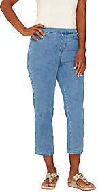Isaac Mizrahi Live! Regular 24/7 Denim CropJeans