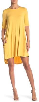 Philosophy Cashmere Elbow Sleeve Knit Swing Dress