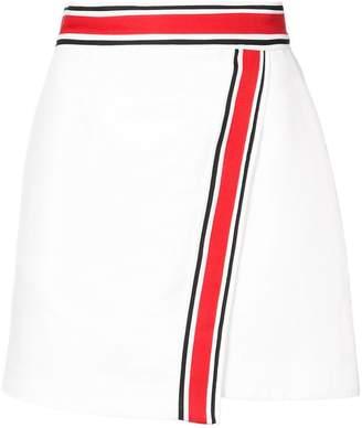 C/Meo striped detail mini skirt