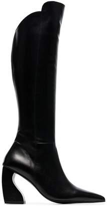 Marques Almeida Marques'almeida leather pointed knee high boot