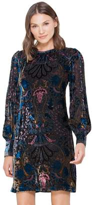 Hale Bob Odile Medallion Burnout Dress No Beads