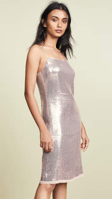 Jason Wu Grey Sequin Spaghetti Strap Dress
