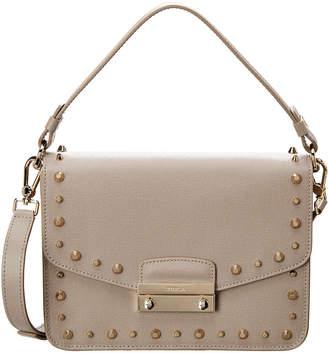 Furla Julia Small Front Studs Leather Shoulder Bag