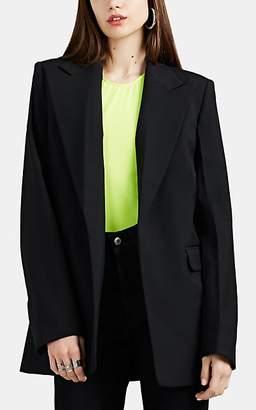 Helmut Lang Women's Asymmetric Neoprene Blazer - Black
