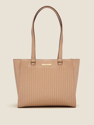 DKNY Cathy Pinstripe Quilted Leather Tote