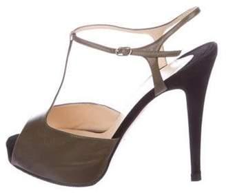 Christian Louboutin Ernesta T-Strap Sandals Green Ernesta T-Strap Sandals