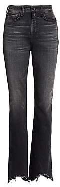 Rag & Bone Rag& Bone Women's Bella High-Rise Flared Split FrayedHem Jeans