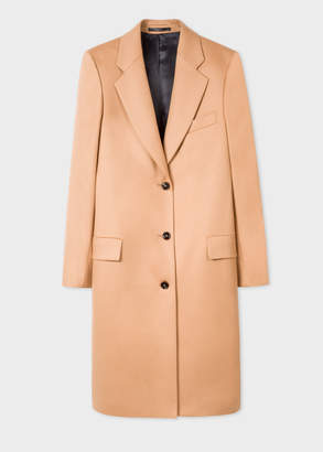 Paul Smith Women's Camel Wool And Cashmere-Blend Epsom Coat