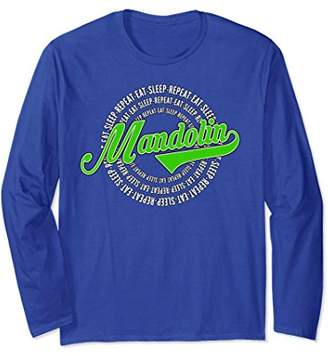 Eat Sleep Repeat Mandolin - Vintage Style Long Sleeve Shirt
