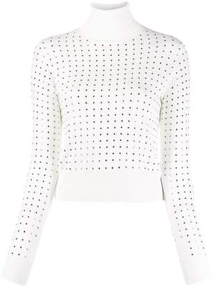 Liu Jo stud-embellished turtleneck jumper