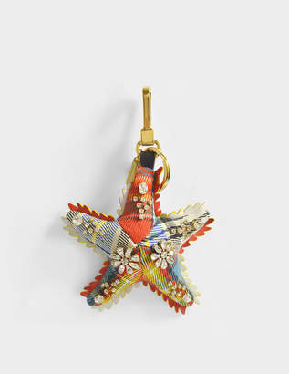Burberry Star Fish Charm Bag Accessory in Orange Crystal