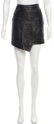 Tess Giberson Leather Mini Skirt