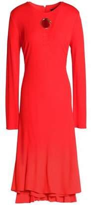 Roberto Cavalli Eyelet-Embellished Jersey Dress