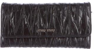Miu MiuMiu Miu Matelassé Continental Wallet