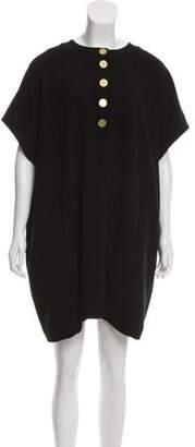 Diane von Furstenberg Trapeze Tan Mini Dress