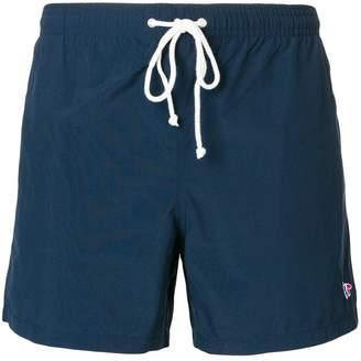 MAISON KITSUNÉ embroidered logo swim shorts