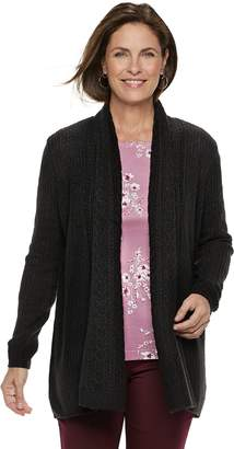Croft & Barrow Women's Cozy Open-Front Cardigan