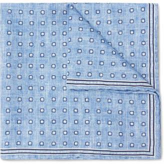 Brunello Cucinelli Polka-Dot Silk And Cotton-Blend Pocket Square
