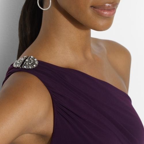 Ralph Lauren Shirred One-Shoulder Dress