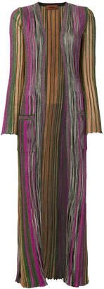 Missoni long striped card-coat