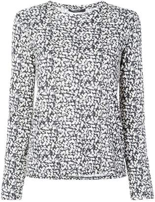 Derek Lam Poppy Print Cotton Jersey Long Sleeve Top