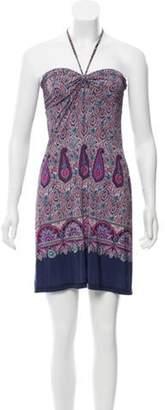 Etro Paisley Printed Dress Purple Paisley Printed Dress