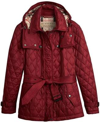 Burberry quilted trench jacket