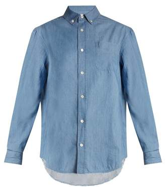 Frame Raw-hem denim shirt