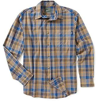 Woolrich Men's Red Creek Long Sleeve Plaid Cotton Shirt
