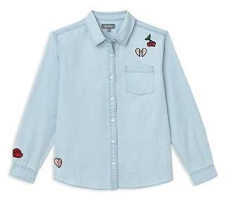 DL1961 Girls' Patch Button-Down Shirt - Big Kid