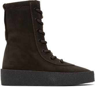 YEEZY Black Suede Crepe Boots $595 thestylecure.com