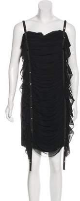 Thomas Wylde Silk Ruffled Dress
