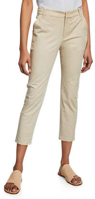 Vince Straight-Leg Cropped Chino Pants