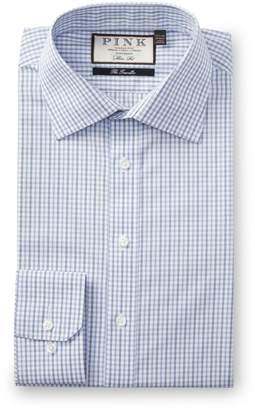 Thomas Pink Lipson Check Slim Fit Dress Shirt