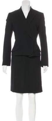 Dolce & Gabbana Wool Pencil Skirt Suit
