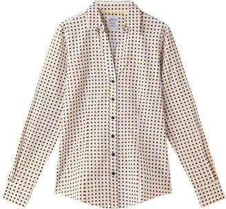 Brooks Brothers (ブルックス ブラザーズ) - ブルックス ブラザーズ コットンサテン スモールダブルドットプリント スパゴカラー ドレスシャツ Fitted Fit
