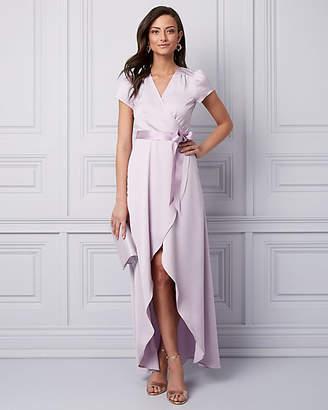 Le Château Satin Wrap-Like Gown