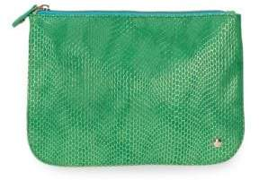 Stephanie Johnson Havana Green Large Flat Cosmetic Pouch