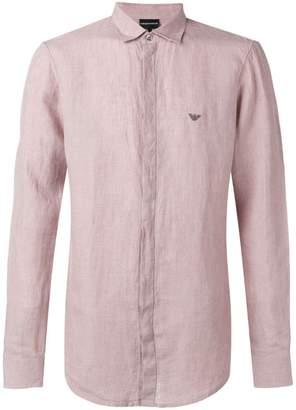 Emporio Armani logo concealed button shirt