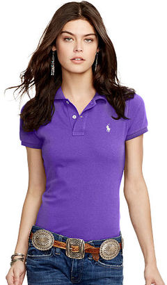 Polo Ralph Lauren Skinny Fit Cotton Mesh Polo $85 thestylecure.com